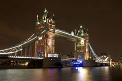 Tower bridge in London UK by night Stock Photo