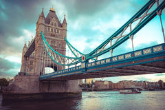 Tower Bridge at London, UK. Selective focus. Royalty Free Stock Images