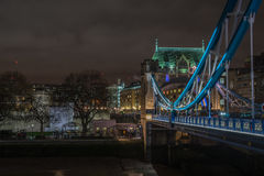 Tower Bridge  London UK. London, Uk - 12th December 2016: A view of the famous Tower Bridge over the River Thames Royalty Free Stock Photography