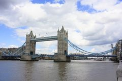 Tower Bridge in London on River Thames. Tower Bridge in London UK. Tower Bridge is a combined bascule and suspension bridge in London built between 1886 and 1894 stock photos