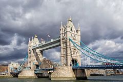 Tower Bridge in London, United Kingdom Royalty Free Stock Photography