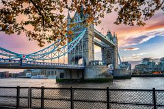 The Tower Bridge in London, United Kingdom Stock Photography