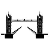 Tower bridge london vector Royalty Free Stock Images