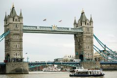 Tower bridge in London. A view of the river Thames and the Tower bridge in London, England royalty free stock photos