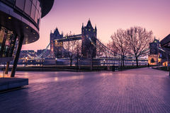 Tower Bridge in London, view from Southwark. Stock Images