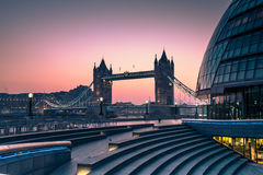 Tower Bridge in London, view from Southwark. Royalty Free Stock Image