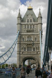 Tower Bridge London. View on a stand alone  of one of the Tower Bridge Stock Images