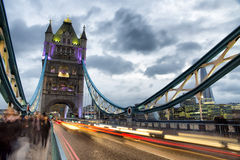 Tower Bridge London. Walk along London Tower Bridge Stock Photography