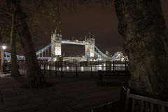 Tower Bridge, a look from the alley Stock Image