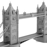Tower bridge model Royalty Free Stock Images