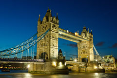 Tower Bridge at night Royalty Free Stock Images