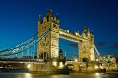 Tower Bridge at night. London, UK Royalty Free Stock Images