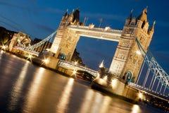 Tower Bridge at night Stock Photography