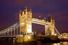 Tower Bridge Night Royalty Free Stock Photography