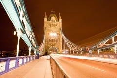 Tower Bridge Night Stock Image