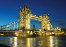Tower Bridge at night Royalty Free Stock Photography