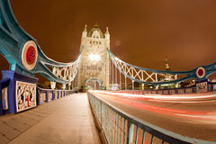 Tower Bridge at Night Stock Photo