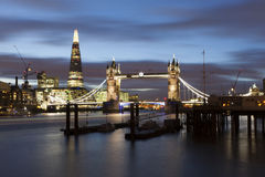 Tower Bridge by night Royalty Free Stock Photos