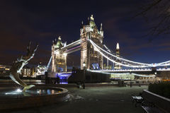 Tower Bridge by night Royalty Free Stock Photo