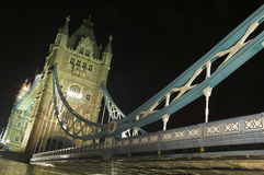 Tower Bridge at night. Tower Bridge was designed and built  between 1886-1894. It is one of London's most famous landmarks and viewed at night its Royalty Free Stock Photography