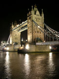 Tower Bridge by night stock image