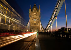 The Tower Bridge at night. Royalty Free Stock Images