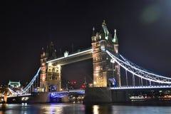 Tower Bridge at night. Royalty Free Stock Photo