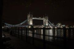 Tower Bridge at Night Royalty Free Stock Photo