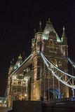 Tower Bridge at night Stock Photography