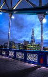 Tower bridge by night HDR Stock Images