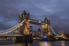 Tower bridge at night. Historical monument of London, England Stock Photo