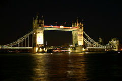 Tower Bridge at Night I Royalty Free Stock Image