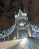 Tower Bridge at Night. The iconic Tower Bridge in London. Taken at Night with a long exposure Royalty Free Stock Image