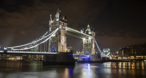 Tower Bridge at Night. The iconic Tower Bridge in London. Taken at Night with a long exposure Royalty Free Stock Images