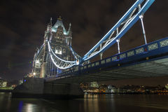 Tower Bridge at Night. The iconic Tower Bridge in London. Taken at Night with a long exposure Stock Photo