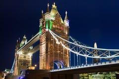 Tower bridge at night lights Stock Photos