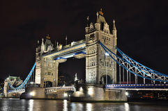 Tower Bridge at night, London. HDR photo Stock Images