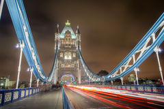 Tower Bridge at night, London Stock Photos