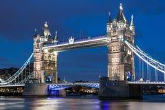 Tower Bridge at night Stock Photo