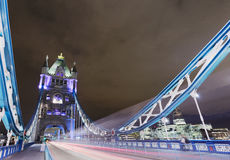 Tower Bridge at Night. The Tower Bridge in London at night royalty free stock photo