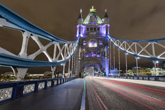 Tower Bridge at Night. The Tower Bridge in London at night Royalty Free Stock Image