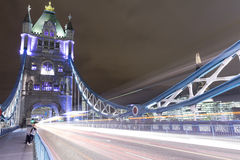 Tower Bridge at Night. The Tower Bridge in London at night royalty free stock photography