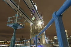 Tower Bridge at Night. The Tower Bridge in London at night stock image