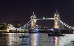 Tower Bridge at night. (London, England Stock Photography