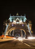 Tower bridge at night, London Royalty Free Stock Image