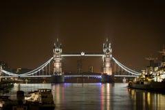 Tower bridge at night, London. England Royalty Free Stock Photos