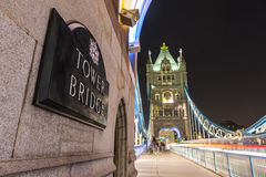Tower bridge by night Royalty Free Stock Photography