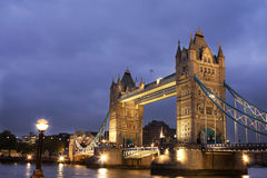 Tower Bridge at night, London, UK Royalty Free Stock Photos