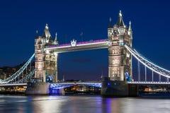 Tower Bridge at night, London. Tower Bridge at night in London, UK Royalty Free Stock Photo