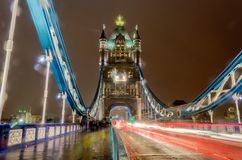 Tower Bridge at Night, London, UK. March 2013 royalty free stock photography